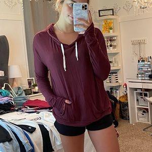 Brandy Melville Maroon Layla Sweatshirt